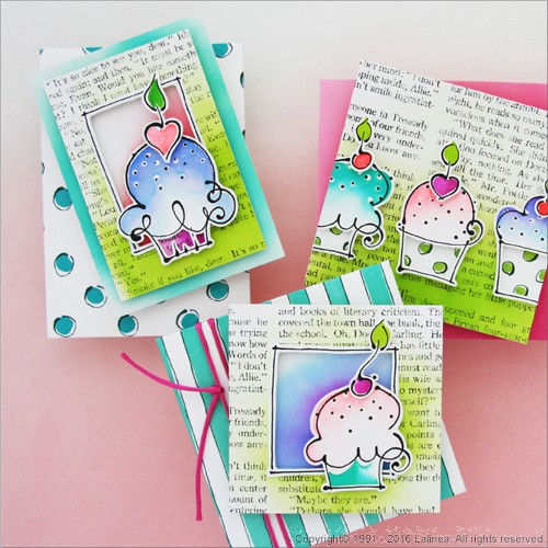 SP0623 Set for making 8 Cupcake Cards
