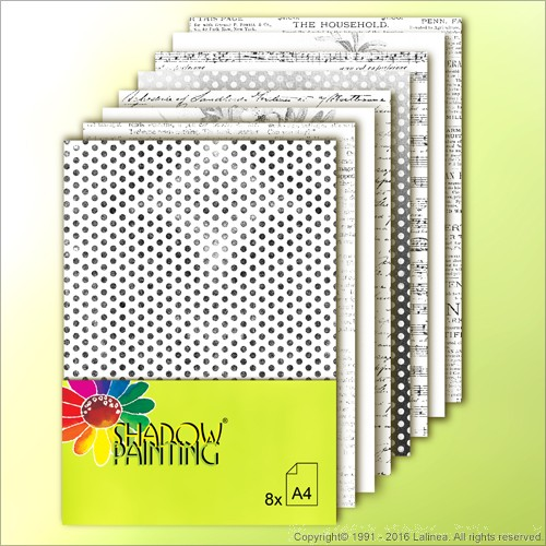 SP0628 Dessin Kraftpaper Black White A4