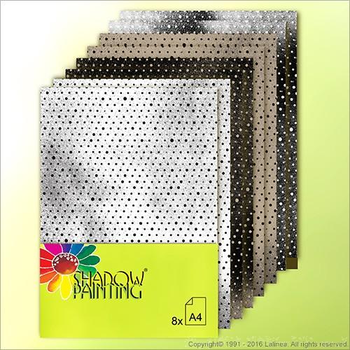 SP0632 Dessin Kraftpaper Dots mixed A4