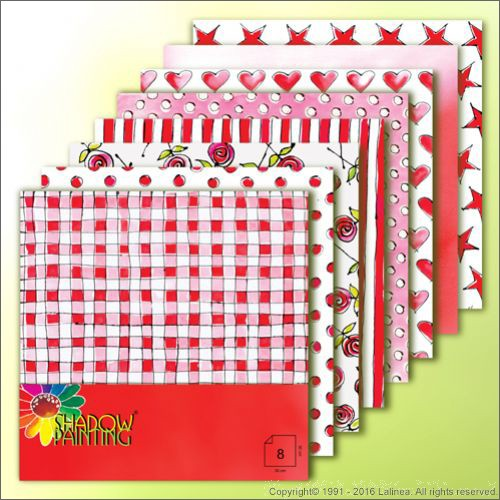 SP0606 Dessin pink/red 8 sheets 30x30cm
