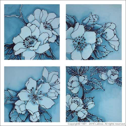 SP0450 Set for Canvas: Delft Blue Blossoms