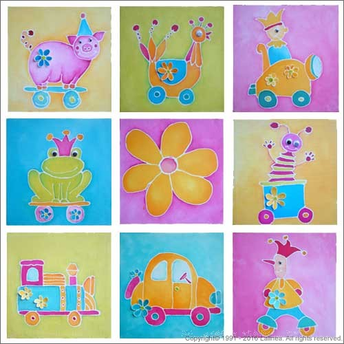 SP0455 Set for Canvas: Children's Drawings