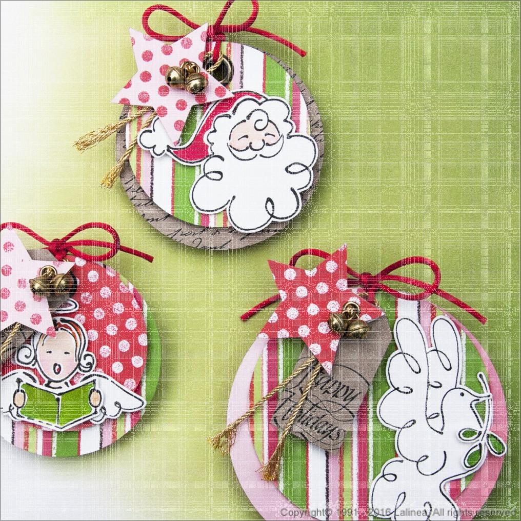 BSP0626 Bundleset Christmas ball cards