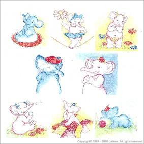 BSP0451 Bundleset for Canvas: Elephant Family Bundle