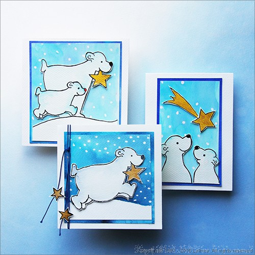 SP0641 Set for making 6 different Polar Bears Cards