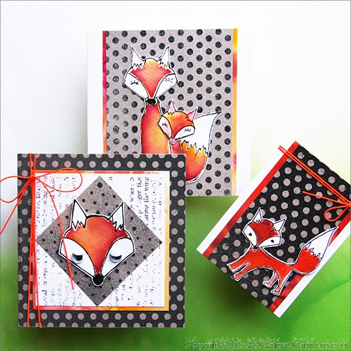 SP0642 Set for making 6 different Foxes Cards