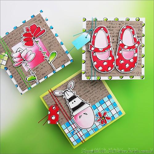 SP0645 Set for making 6 Girls Childern's Cards
