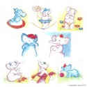 BSP0451 Bundleset for Canvas: Elephant Family Bundle